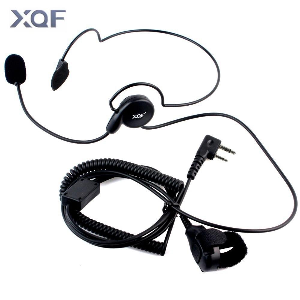 Advanced Unilateral Headphone Mic Finger PTT Neckband Earpiece Cycling Field Tactical Headset For Kenwood BAOFENG Radio