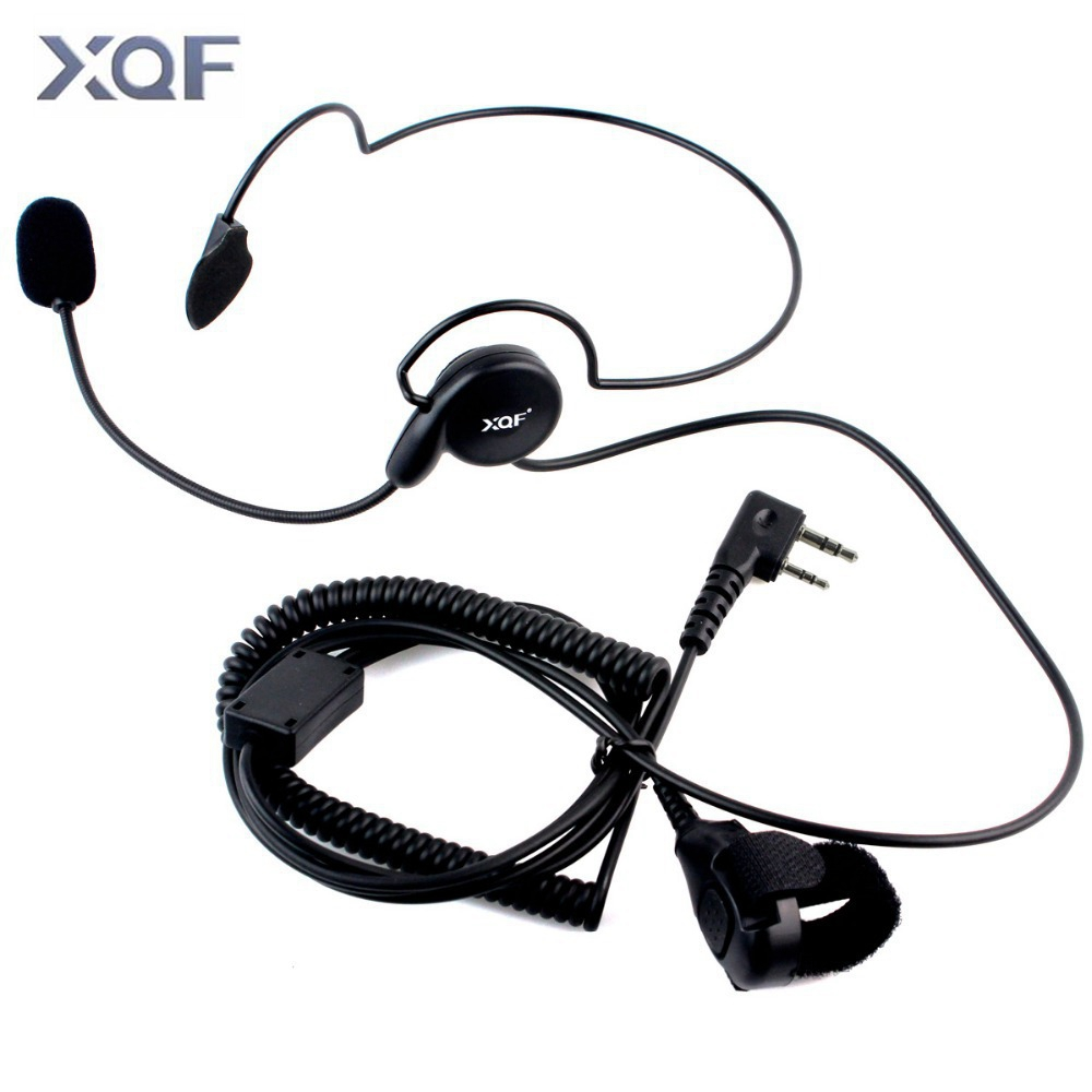 tactical radio headset auricular unilateral headphone with mic finger ptt ecouteur cycling field earphone for kenwood baofeng [ 1000 x 1000 Pixel ]