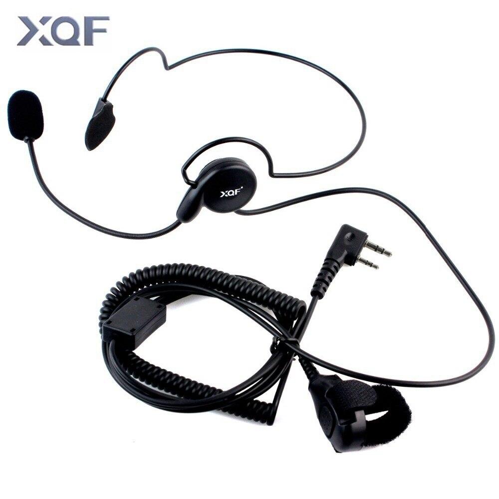 Tactical Radio Headset Ohr Einseitige Kopfhörer Mit Mic Finger PTT Écouteur Radfahren Feld Kopfhörer Für Kenwood Baofeng