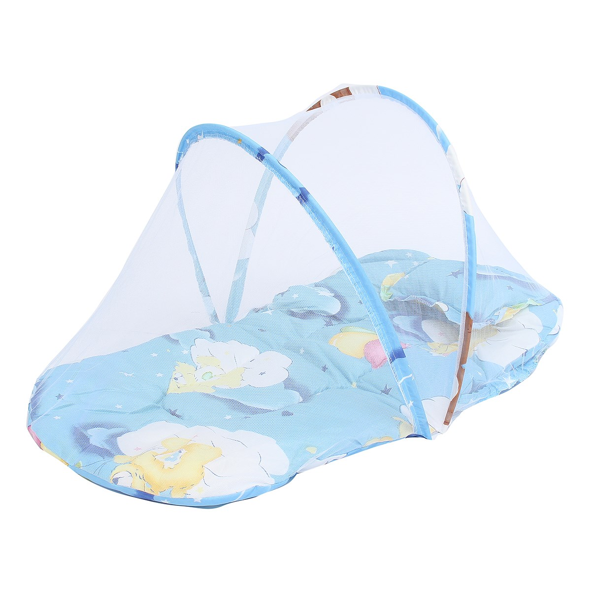 Baby bed camping - Portable Polyester Baby Infant Canopy Mosquito Net Foldable Tent Bed Crib Netting Pillow Home Bedrooom Textiles