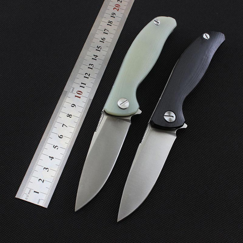 Russia F3 EDC folding knife D2 blade G10 handle camping folding knife outdoor survival bearing knife tactical hunting EDC tool edc 5pcs 3cr13 55hrc knife