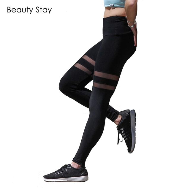 e4f0d6c3a2dcb BeautyStay 2018 Summer Black Fashion Translucent Leggings Push Up Causal  Sexy Pant Women Transparent Plus Size Workout Jeggings