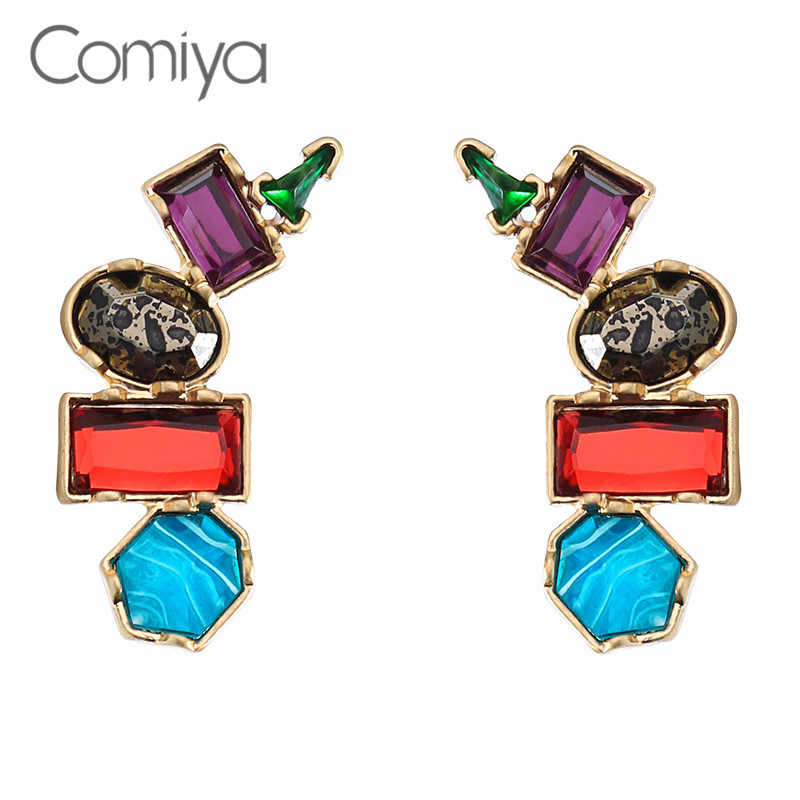 Comiya Brand Stud Earring Mix Color Rhinestone Decoration Online Shopping Indian Fashion Zinc Alloy Big Earrigs For Women Aliexpress