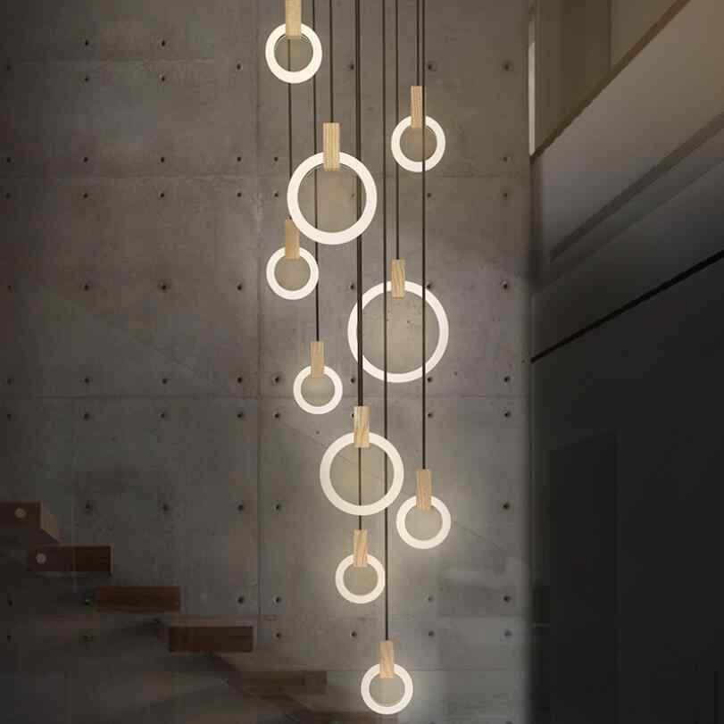 Современный светодиодный Люстра для комнаты, Подвесная лампа освещение для спальной лестницы освещение Новинка освещение Лофт подвесной светильник