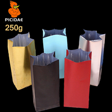 250 G Cookie Nut Casual Snack Food Packing Bag Half Pound Aluminum Foil Heat Up Side Gusset Back Open Top Seal Four Stand