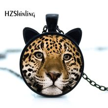 hot deal buy 2016 new leopard necklace leopard pendant jewelry glass photo cabochon necklace cn-00445
