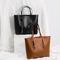 Single Shoulder Bag Bag Handbag Female Han 2017 New Large Capacity Tote Minimalist Leather Tote Bag