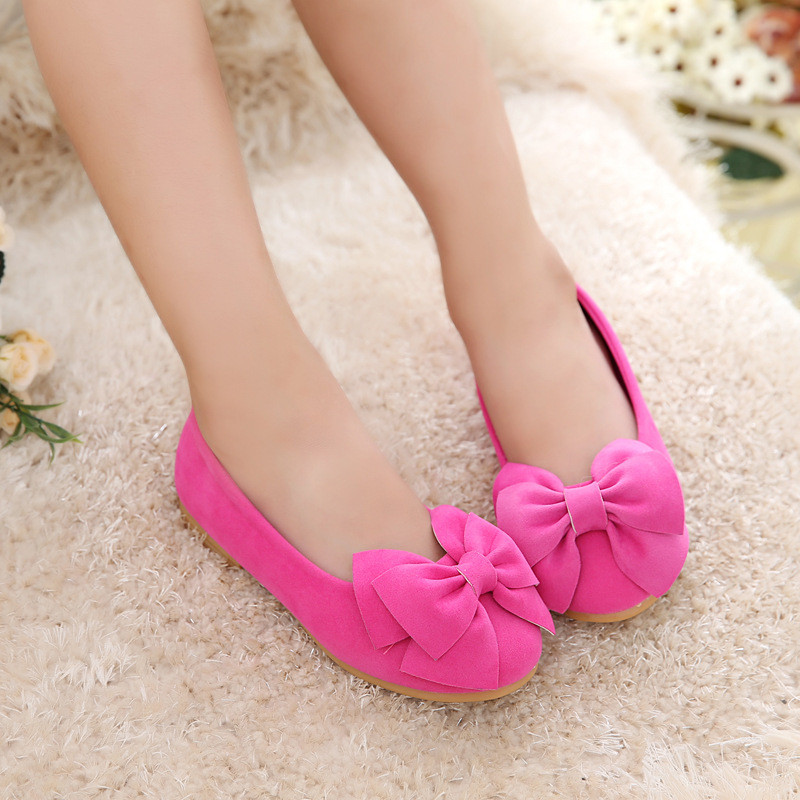 Baby Party Shoes Kids Princess Flats Bow-knot Candy Color Shoe Children Girls Dresses Shoes Slip-On Soft Sole Loafers Spring