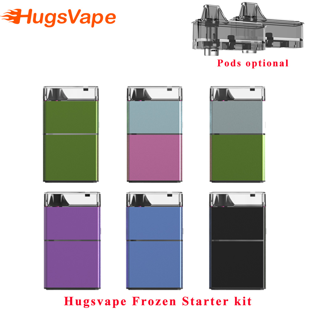 Hugsvape แช่แข็งชุด Starter 2500 mah ในตัว Vape pod ชุด 5 ml ตลับหมึก Vaporizer E บุหรี่แช่แข็งตาข่ายม้วน vape ชุด-ใน ชุดบุหรี่ไฟฟ้า จาก อุปกรณ์อิเล็กทรอนิกส์ บน AliExpress - 11.11_สิบเอ็ด สิบเอ็ดวันคนโสด 1