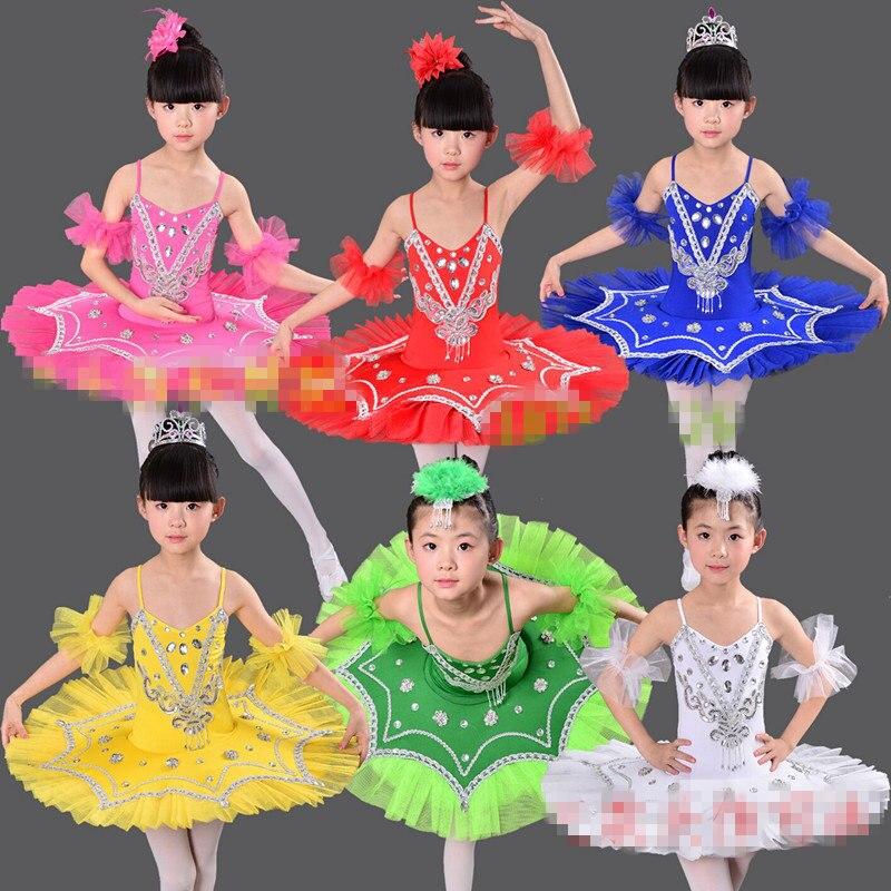 dc54e1808 Nuevo niño blanco Swan Lake Ballet vestido profesional Ballet Tutus baile  disfraz niños balet ...