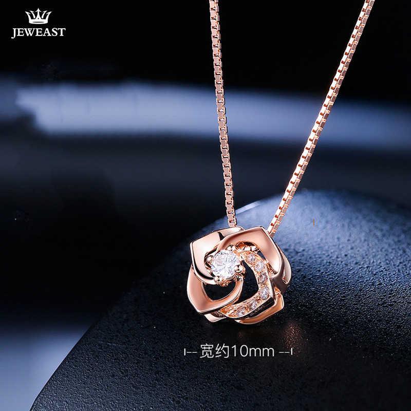 18K Reinem Gold Anhänger Echt AU 750 Solid Gold Charme Nizza Rose Diamant Gehobenen Trendy Klassische Partei Edlen Schmuck heißer Verkauf Neue 2018