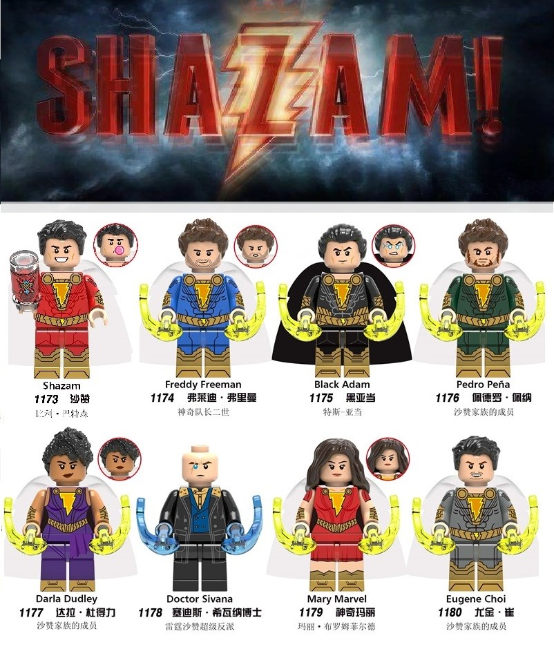 Building BLocks Super Heroes Shazam Mr Miracle Midnite Donna Troy Action Figures Bricks Toys Gift For Children X0247