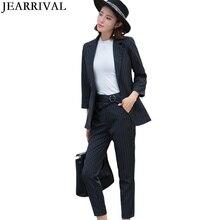 Work Office Ladies Pants Suit Spring Fashion Slim Casual Womens Business Single Button Blazer Coat Sets Korean Style