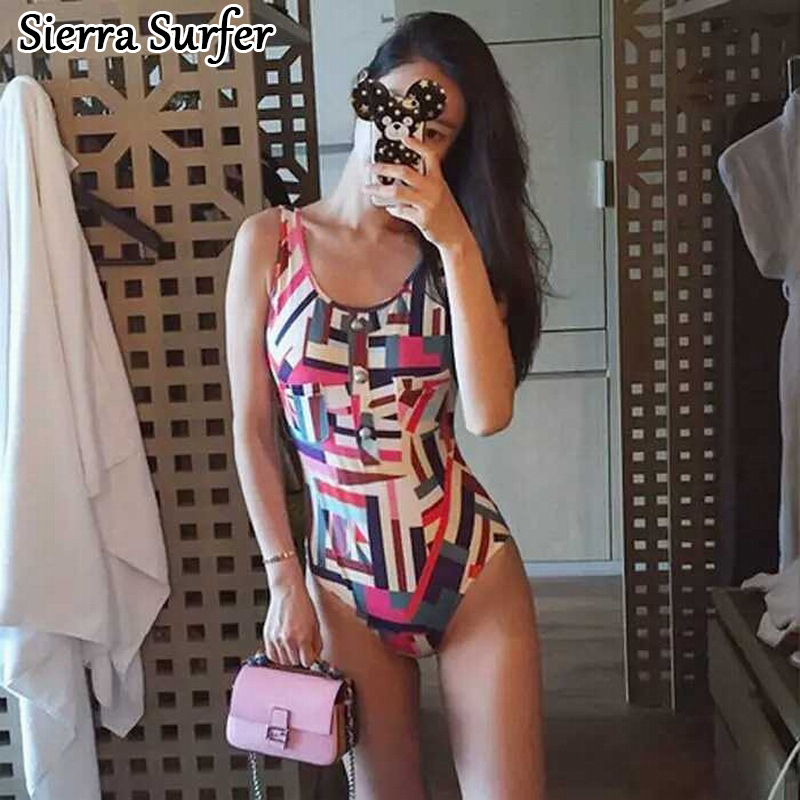 One Piece Swimsuit Cheap Sexy Bathing Suits Lady Bikini 2018 May Beach Girls New Red X Rainbow Color Printing Traje De Bano cheap sexy bathing suits swimwear one piece female may beach girls one piece swimsuit 2017 korea black ladies classic high waist