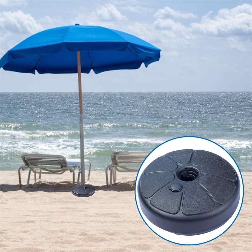 Sombrilla de playa al aire libre Base Soporte redondo relleno de agua para 3,5-3,8 cm poste de sombrilla jardín Patio refugio solar accesorio