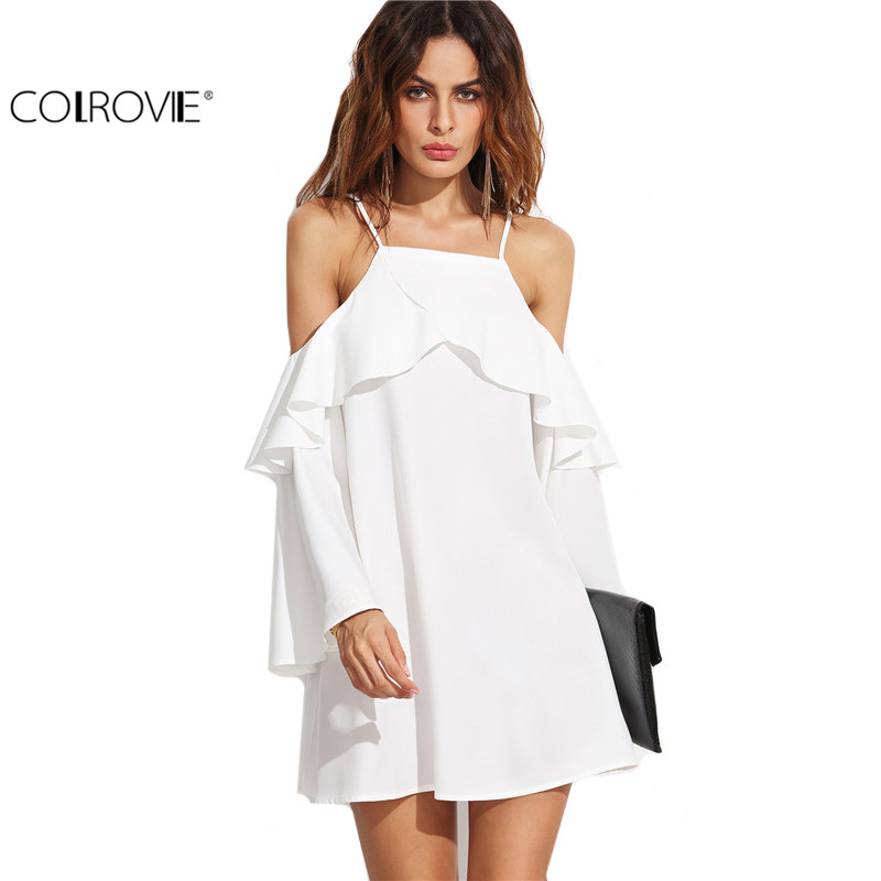 Long White Beach Dresses Promotion-Shop for Promotional Long White ...