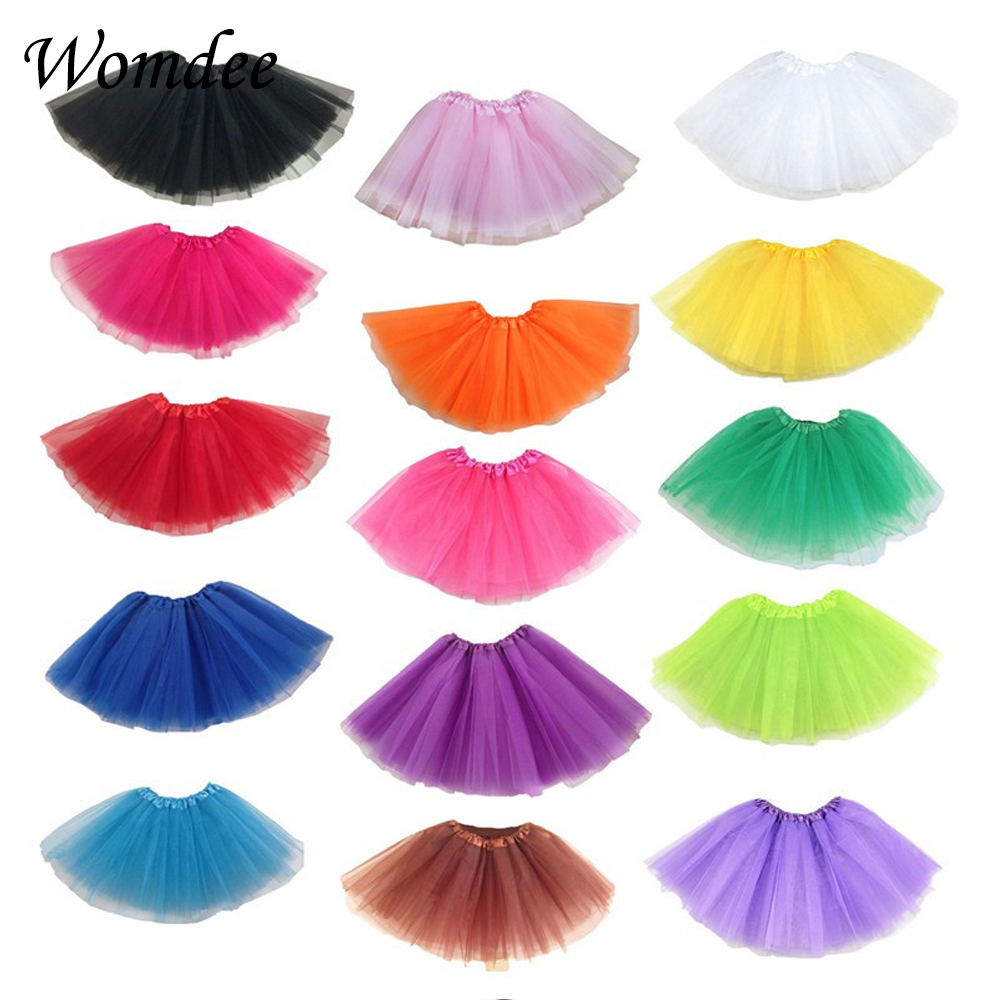 Free Shipping 3 Layers Girls Womens Tulle Skirt Women Pleated Short Mini Tutu Skirts Lolita Jupe Dance Skirt Summer Saias Jupe