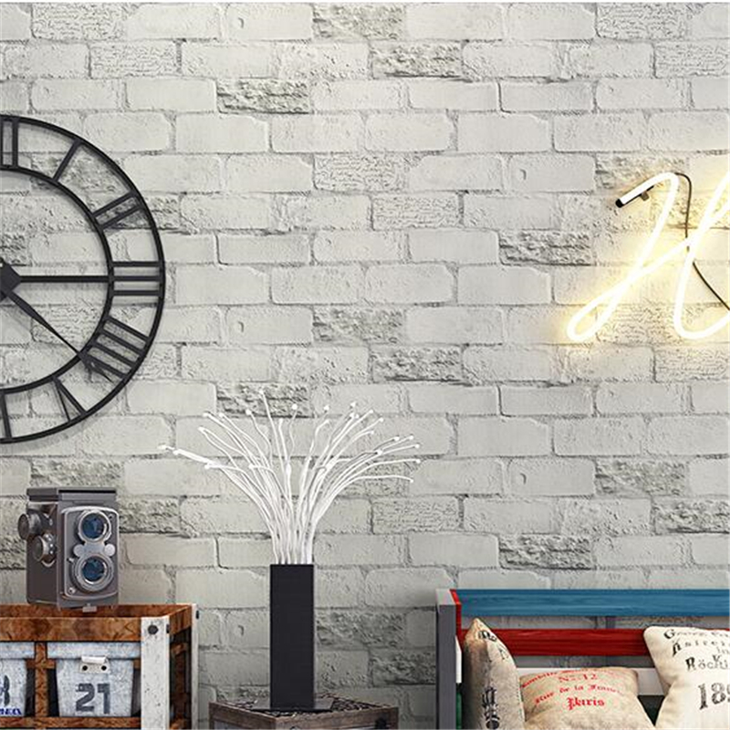 beibehang Nordic style retro brick alphabet brick wallpaper culture brick living room clothing store wall paper papel de parede beibehang papel de parede 3d stereo wall paper imitation brick pattern clothing behang store bedroom luxury adhesive wallpaper