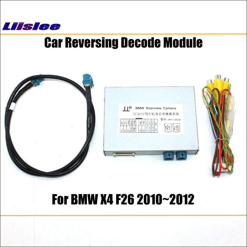 Liislee Original Screen Update System For BMW X4 F26 2010 2012 CIC System Reversing Module Rear Camera Decode Track Box in Vehicle Camera from Automobiles Motorcycles