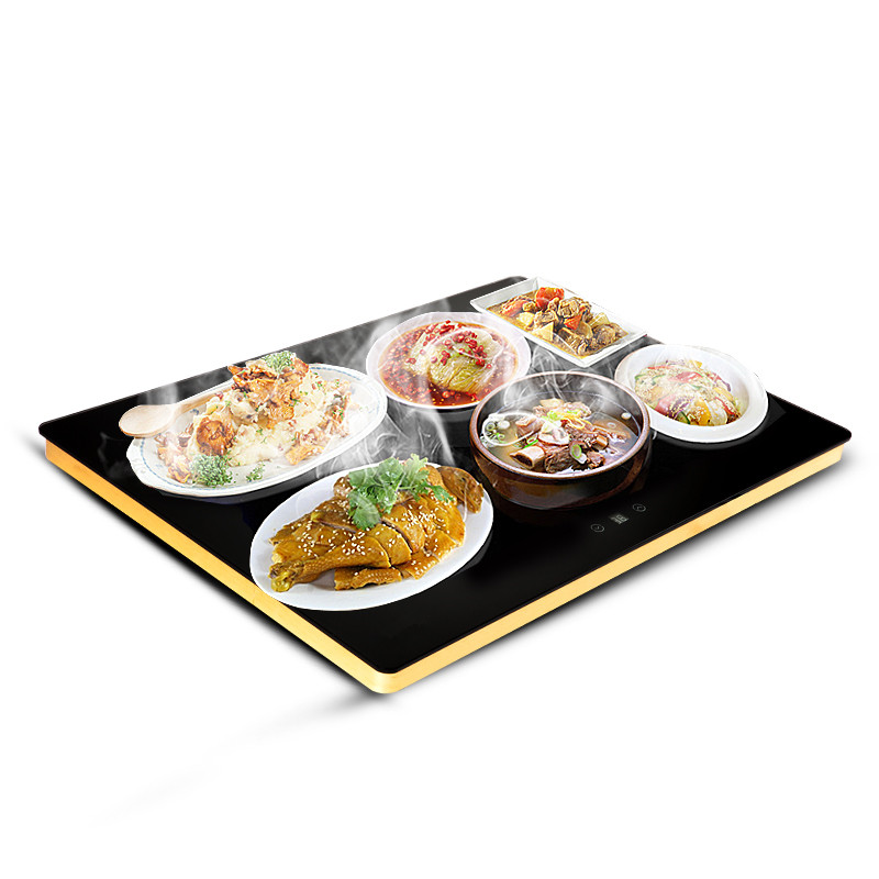 220V Meals Insulation Board Household Intelligent Warm Drying Table Dishes Heating Protection Plate 42*60cm EU AU UK Plug
