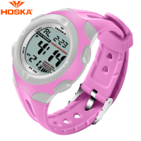 Fashion Brand HOSKA Girls Pink LED Digital Watch Children Sports Waterproof Watches New Design Student Electronic Wristwatches