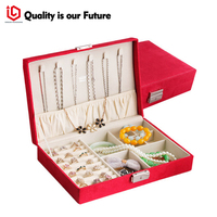 the lock box for Jewelry metal ornament packaging box Earring/ring/necklace/high quality