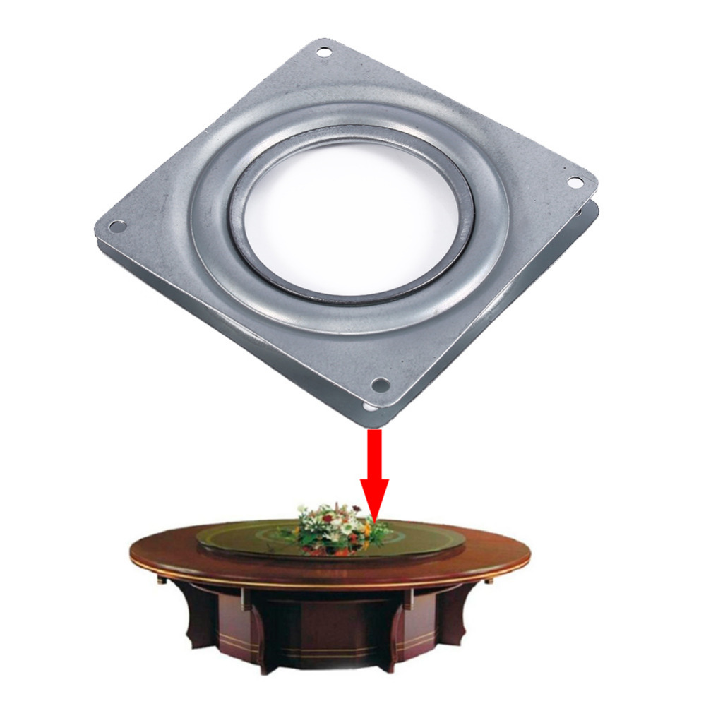 Permalink to 4 Inch Square Bearing Plate Turntable Plate Bearing Steel Rotating Plate Kitchen Cabinets Accessories