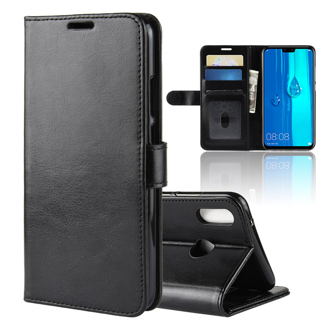 timeless design 85981 0f9c4 US $4.19 |Aliexpress.com : Buy For Huawei Y9 2019 Case Huawei Y9 2018 Case  Flip PU Leather Phone Case For Huawei Y8 2019 JKM LX3 JKL LX1 Y9 2018 Case  ...
