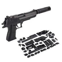 Zhenwei Diy Assembleren Speelgoed Millitary Pistool Pistool Wapen Pistool Revolverschot Kid Jongens Gift Outdoor Game Speelgoed Voor Kinderen