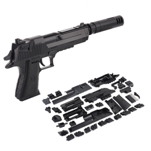 Zhenwei diyの組立おもちゃのmillitary銃武器ピストル射撃子供ボーイズギフト屋外ゲームのおもちゃ