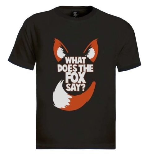 WHAT DOES THE FOX SAY T-Shirt Party NORWEGIAN DANCE MUSIC <font><b>Viral</b></font> Video Drinking Cool Casual pride t shirt men Free Shipping image