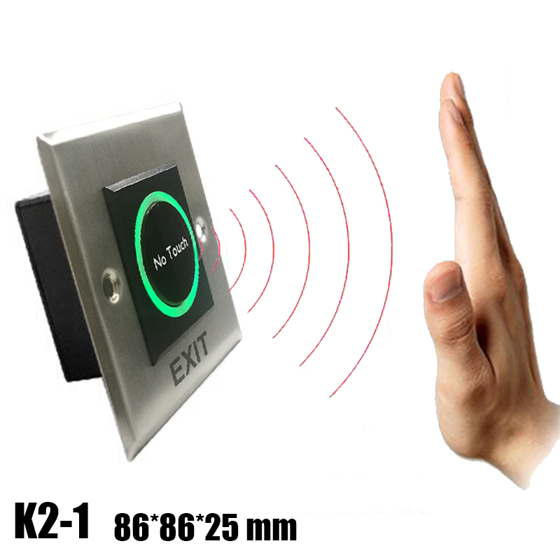 No Touch Exit Button Metal Infrared Exit Button K2-1