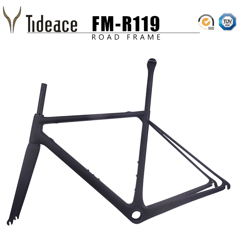 Tideace 2019 New Ultralight Carbon Road Bike Frame Di2 mechanical racing carbon road frame accept DIY