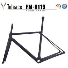 цена на Tideace 2019 New Ultralight Carbon Road Bike Frame Di2 mechanical racing carbon road frame accept DIY