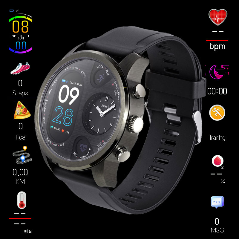 Smart Watch 50M Waterproof Sports Watches Buletooth Control Camera Message Call Push Alarm Alloy Smartwatch IOS