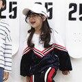 Корейских детей Футболка девушки весной 2017 новые дети и дети золотые бархатные рубашки девушки бесплатная доставка