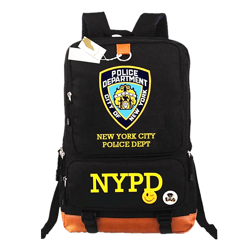 Stylish Travel Large Capacity Backpack Nypd School Bags Male Luggage Shoulder Bag Computer Backpacking Functional Versatile Bags