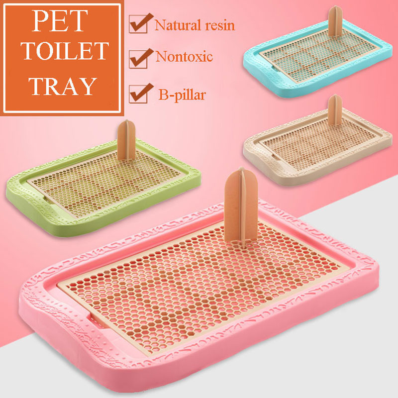 SMARTPET Plastic Mesh Grid Flat Column Pet Dog Toilet Pure Color Large Small Dog Training Toilet