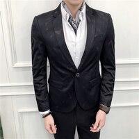 Slim Fit Blazer Men Prom Dress Blazer Men Decent Party Wear Printed Blazers Jacket For Men Chaquetas Hombre De Vestir