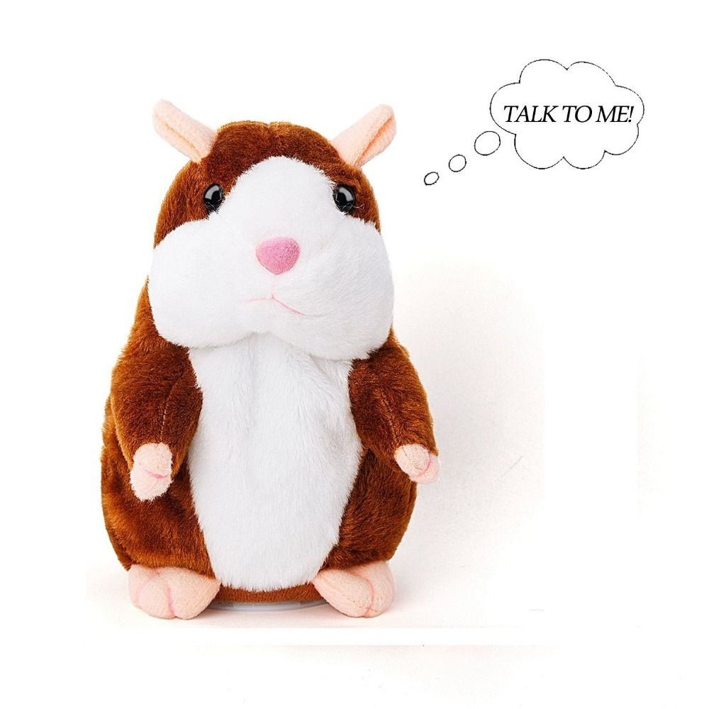 Unforgivable hamster Repeat Talking Hamster Toys for Birthday Gifts Animal Plush Doll Toys for Boys Girls Electronic doll Toy