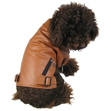 Cool Waterproof Dog Clothes Leather Coat Winter Jacket Small Dogs Pets Pug French Bulldog Roupa Cachorro Frence
