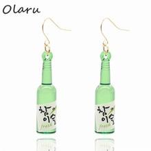 Olaru Jewelry 2 colors Korea OL Bottle Drop Earring For Woman New 2017 Personality Long Dangle Earrings Party Gift