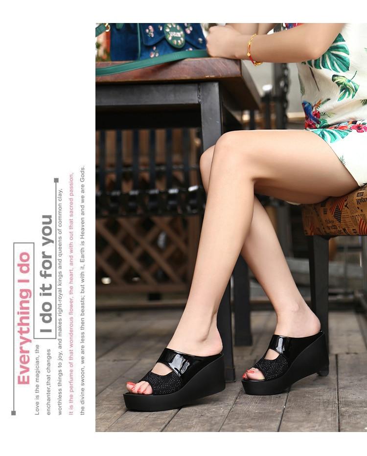 HTB1JqgvUSzqK1RjSZFpq6ykSXXah New Arrival 2019 women's sandals Women Summer Fashion Leisure Fish Mouth Sandals Thick Bottom Slippers wedges shoes women F90084