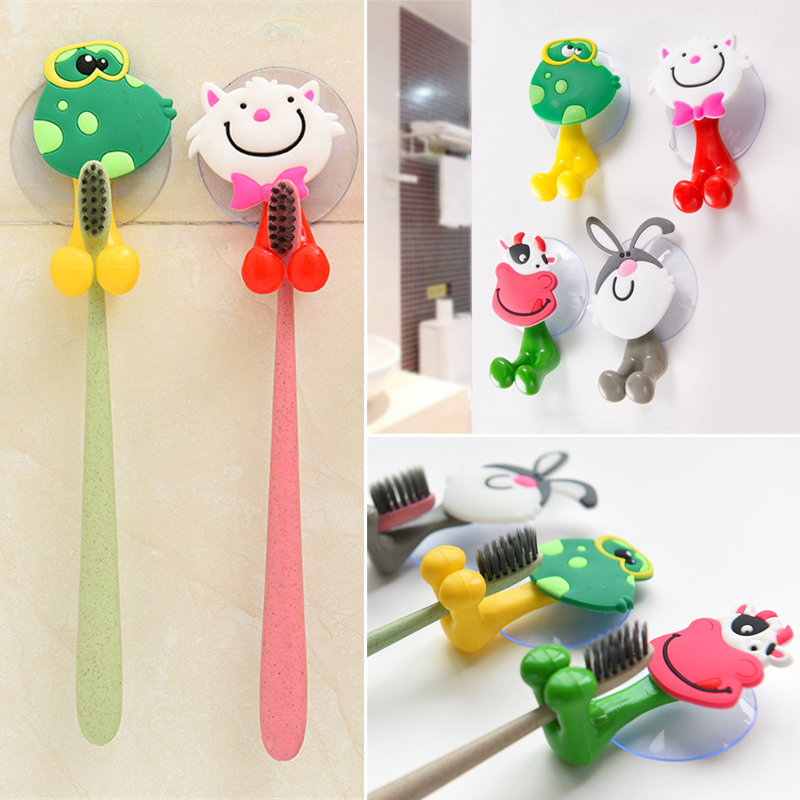 2pcs Wall Storage For Kids Bathroom Accessories Cartoon
