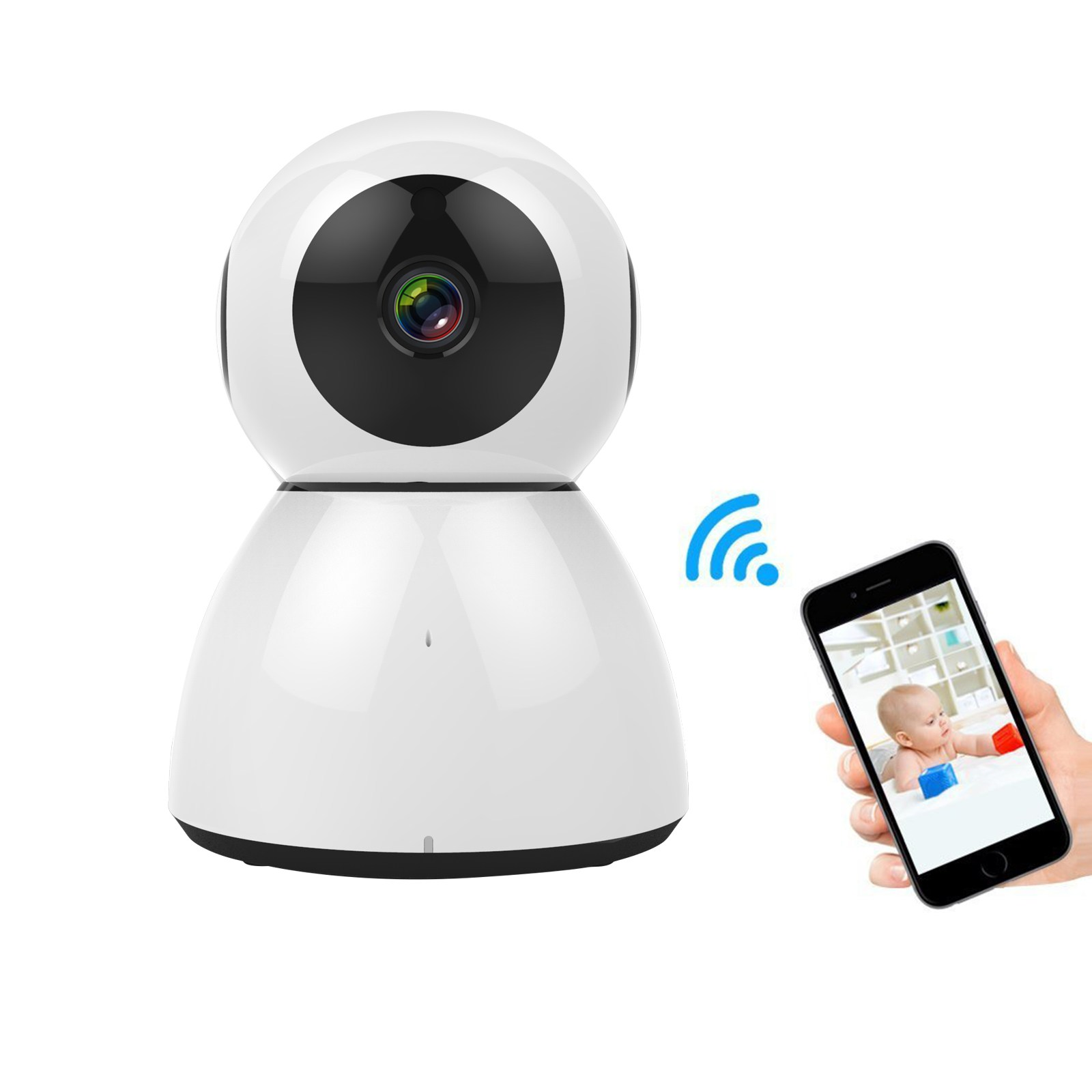 Wide Angle Wireless WiFi Home Security Camera Two Way Audio Night Vision Motion Detection Baby care safety Electric monitor smart mini camera wifi support two way audio night vision sd card onvif motion detect camera with wifi for home security