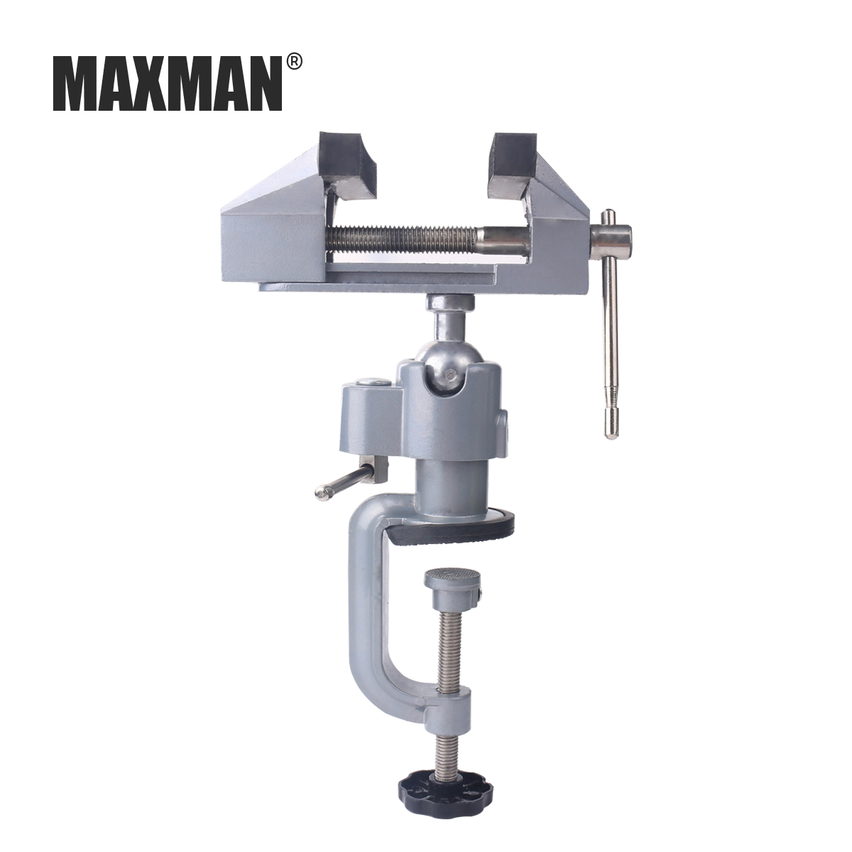 MAXMAN Bench Vise Aluminum 75mm Table Screw Vise Bench Clamp Screw Vise for DIY Craft Mold Fixed Repair Tool goxawee mini table vice dremel rotary tool screw bench vise for diy jewellery craft mould fixed repair tool dremel tools