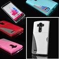Новый Кожаный Бумажник Card Case Soft ТПУ Задняя Крышка Для LG G4 Телефон случаях