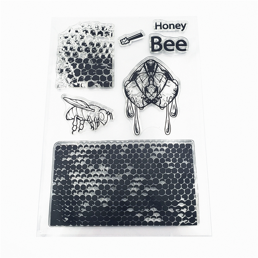 Соты Honey Bee Stamp Прозрачный Прозрачные Марки Силиконовые Уплотнения для DIY Скрапбукинг Карты