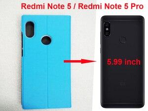 """Image 5 - [Mi OEM Design] xiaomi redmi note 5 fall globale version 5.99 """"flip redmi note 5 pro abdeckung xiaomi note 5 pro fall PU leder PC"""