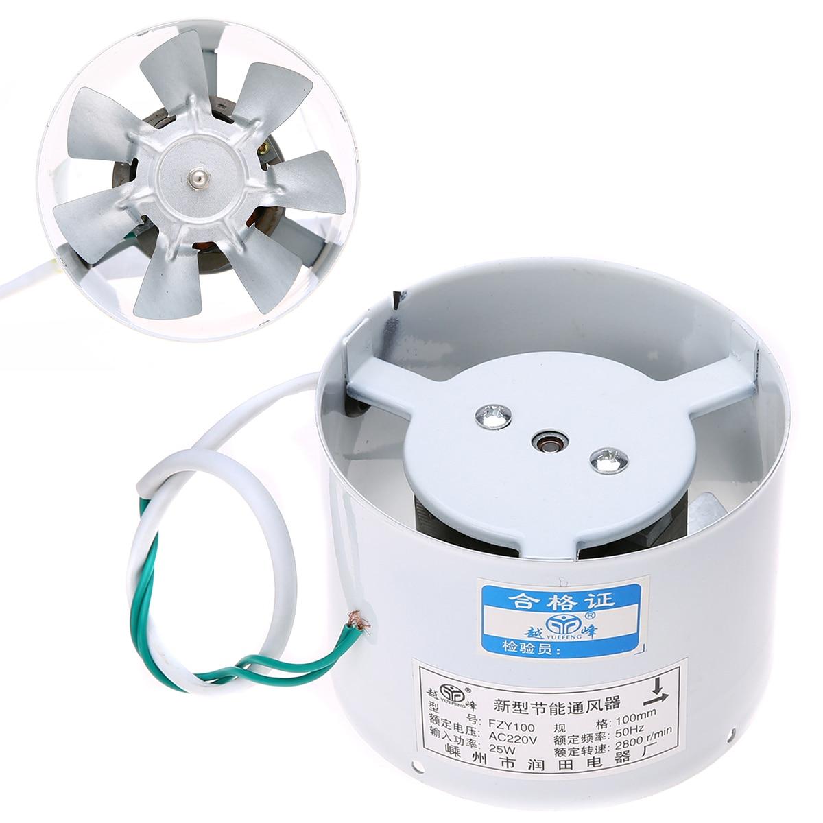 Mayitr 4'' Inline Ducting Fan Booster Exhaust Blower High Speed Quiet Fan Exhaust Ventilation Duct Fan 220V 50Hz 25W 2800R/Min 220v variable 15a fan speed controller for hydroponics inline duct fan exhaust with wire